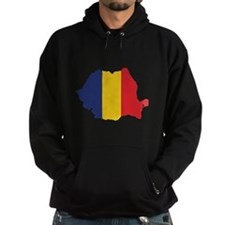 Flag Map of Romania Hoodie