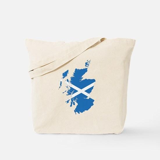 Flag Map of Scotland Tote Bag