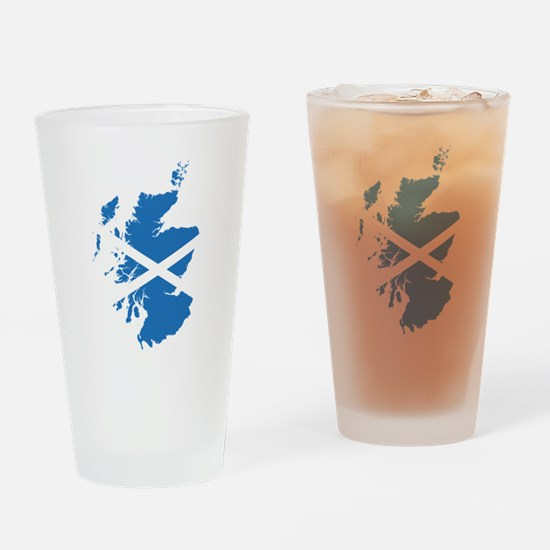 Flag Map of Scotland Drinking Glass