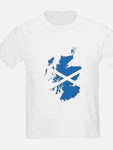 Flag Map of Scotland T-Shirt