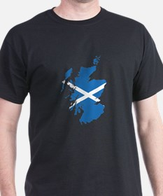 Flag Map of Scotland T-Shirt