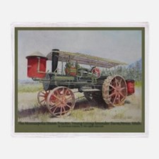 The Minneapolis Steam Tractor Throw Blanket