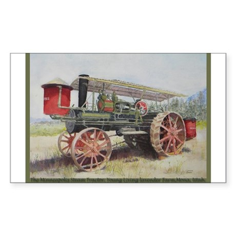 The Minneapolis Steam Tractor Sticker (Rectangle)