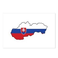 Flag Map of Slovakia Postcards (Package of 8)