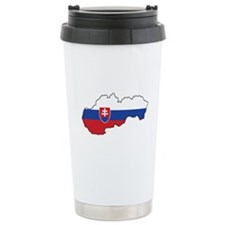 Flag Map of Slovakia Travel Mug