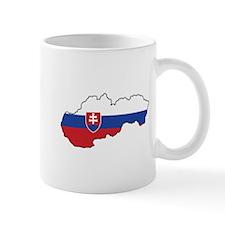 Flag Map of Slovakia Mug