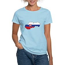 Flag Map of Slovakia T-Shirt