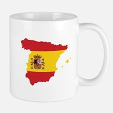 Flag Map of Spain Mug