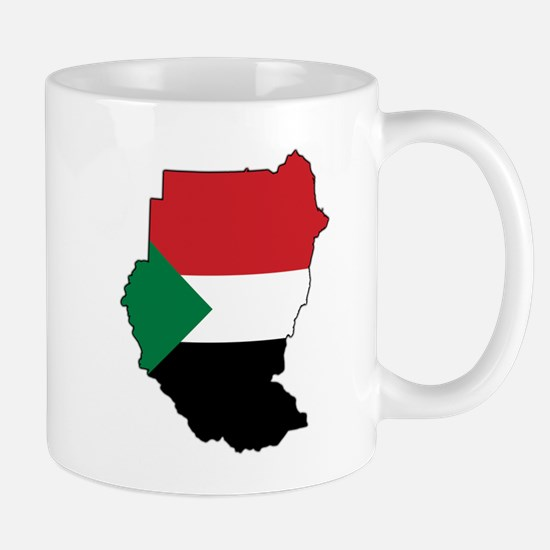Flag Map of Sudan Mug