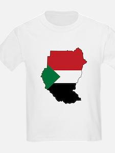 Flag Map of Sudan T-Shirt