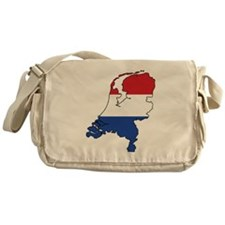 Flag Map of the Netherlands Messenger Bag