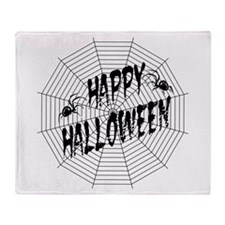 Halloween Spiders Web Throw Blanket