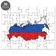 Flag Map of the Russian Federation Puzzle