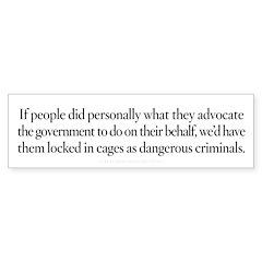 Government Ethics Bumper Sticker