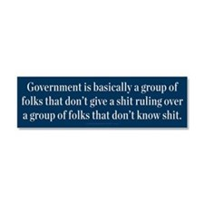 What Is Government? Car Magnet 10 x 3
