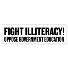 Fight Illiteracy Car Sticker