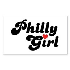 Philly Girl Rectangle Decal