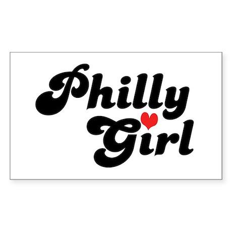 Philly Girl Rectangle Sticker
