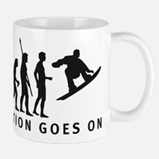 evolution snowboard Mug
