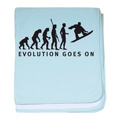 evolution snowboard baby blanket