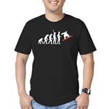 Evolution of snowboarding Fitted T-shirts (Dark)