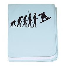 evolution snowboard baby blanket