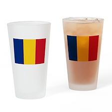 Flag of Romania Drinking Glass