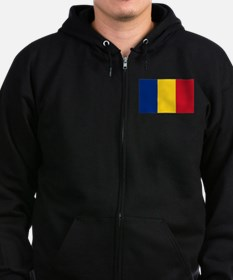 Flag of Romania Zip Hoodie