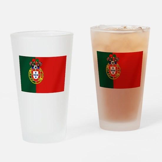 Portuguese Football Flag Drinking Glass