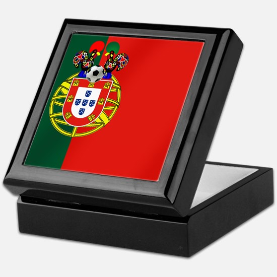 Portuguese Football Flag Keepsake Box