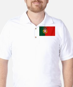 Portuguese Football Flag Golf Shirt