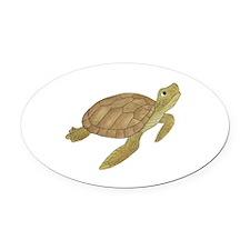 Sea Turtle Oval Car Magnet