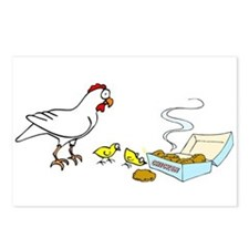 Reality Sucks Chicken with Nuggets Postcards (Pack