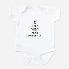 Keep Calm And Play Baseball Infant Bodysuit