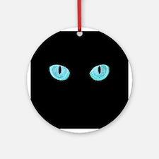 Blue Cat Eyes Ornament (Round)