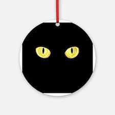 Amber Cat Eyes Ornament (Round)