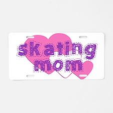Skating Mom 3 Aluminum License Plate