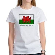 Tee with Welsh Flag