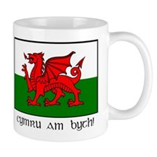 Small Mug with Welsh Flag