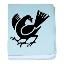 Three Legged Crow baby blanket