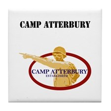 Camp Atterbury with Text Tile Coaster