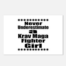 Never Underestimate Krav Postcards (Package of 8)