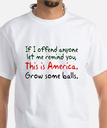 This is America White T-Shirt