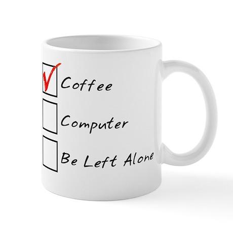 Coffee Computer Left Alone Mug