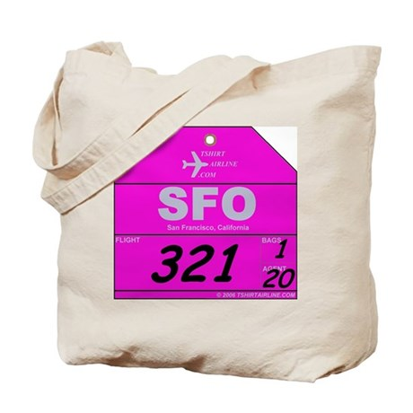 SFO - San Francisco, Californ Tote Bag