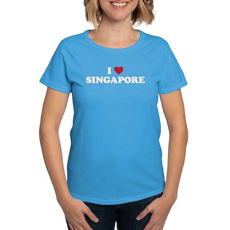 I Love Singapore Women's Dark T-Shirt