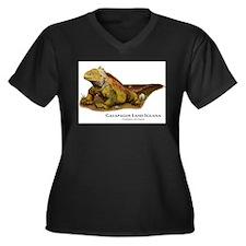 Galapagos Land Iguana Women's Plus Size V-Neck Dar