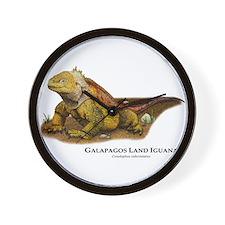 Galapagos Land Iguana Wall Clock