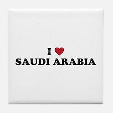 I love Saudi Arabia Tile Coaster