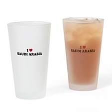 I love Saudi Arabia Drinking Glass